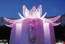 """""""PINK PARTY!"""" - Christmas Lights  #blachereillumination / Blachère has been using its illumination know-how in France for over 40 years.  When Blachère illumination was set up in 1973, Jean-Paul Blachere and his colleagues were inventing a profession, know-how and a signature all of their own. we now come up with projects for more than 150 countries, working from France.  Our 19 subsidiaries all fly the flag for our créative work in Europe, Asia and America."""
