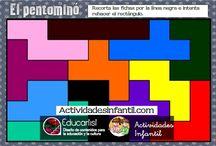 Fichas de aprendizaje / Una selección de fichas de aprendizaje, para reforzar la asimilación de los contenidos trabajados en el aula con los niños de infantil.