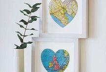 Map creations / Creaties met landkaarten