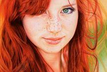 Roodharigen / Mooi rood is niet lelijk! Vanwege mijn rode haar en sproeten werd ik als kind (in een klein dorp in Noord-holland) gepest, maar later ontdekte ik dat die combinatie van haarkleur én sproeten juist prachtig is!