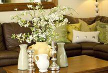 Ili's living room ideas (brown & green)