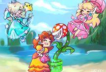 Rosalina,peach and dasiy power girls