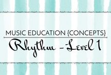 Rhythm Level 1 - Music Education {Concepts} / Resources, strategies, and activities for teaching quarter note, eighth notes, and quarter rest.  Music Education {Concepts} Rhythm Level 1