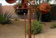 Wind art / Éoliennes artistiques, mobiles paysagers