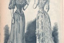 1890s fashion plates & paintings