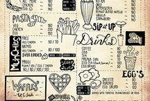 Soulcurrry : Lettering, Design & Illustration / Hand-lettered Menu