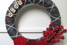 yarn wreaths / by Tesa Cornett