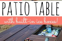 patio table with built-in cooler