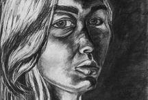 Portrait Drawings:  High School level