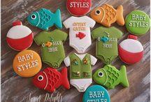 fishing themed cookies
