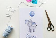 Láminas para bebes y recién nacidos - Acuarelas / Láminas de decoración en acuarela para los más peques, bebes y recién nacidos