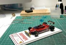 My collection of Ferrari 1/43 / The bulletin board is photos of Ferrari F1 of my collection in 1/43