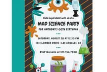 Science Birthday Party Suite / Mad Science Birthday Party Package customizable to your specifics.