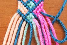 Macrame - náramky z bavlnek