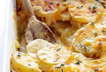 Cheesy scalloped potatoes / Recipes