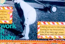 Scrapbook Layouts- Black and White Photos