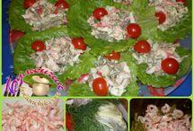 Салатик с креветками и зеленой фасолью