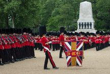 Welsh Guards Practice / With less than a month to go before the Queen's Birthday Parade, the Household Division is busy rehearsing for this highlight in the ceremonial calendar. This year the 1st Battalion Welsh Guards, who are celebrating their centenary this year, will Troop their Colour in front of Her Majesty on Saturday 13th June on Horse Guards Parade.