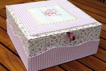 Scatole rivestite - altered boxes.