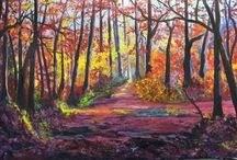 Paradise Forest (schilderij ven Hennie Buiter Douwes