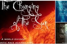 The Changing of the Sun Moodboard / A moodboard for my sci fi trilogy The Changing of the Sun, The Water Children and The Calling.