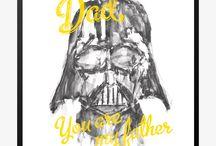 STAR WARS posters / Plakater til ægte Star Wars fan.  Disse plakater er super fine som gaver til dig selv eller andre STAR WARS fans.