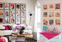 Decoração com quadros / Dicas e Inspirações do Blog Moldurapop para decorar sua casa com quadros.  blog.moldurapop.com