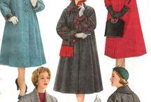 history of 1950s coats