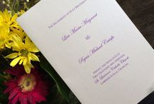 Programs, Menus and Place Cards / Programs, Menus and place cards for weddings, showers, birthdays, anniversaries and other special events or themed parties