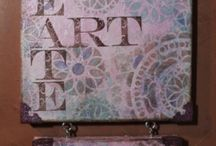 TCW on Canvas / Artwork using The Crafter's Workshop Stencils & Templates / by The Crafter's Workshop