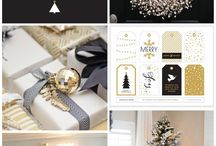 Christmas gold & white