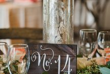 Table Numbers / Ideas for different table number designs for your wedding or party