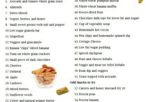Healthy snack and meal ideas