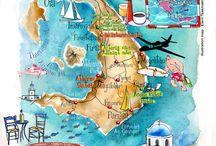 Øyhopping- Santorini