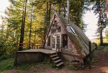 A-frame tiny house