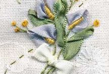Вышивка на шелковых лентах