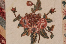 Quilts: Broderie Perse / Classic applique of floral shapes from fabric, cut and appliqued to a background for quilting   / by Alice Cooksey