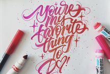 Typography / Showcasing the best in Typography