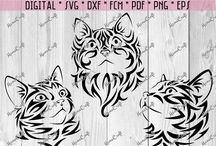 SVG or DXF Animals Silhouette Cameo, Brother ScanNCut, Cricut