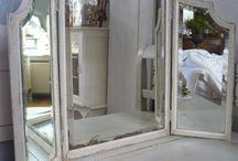 Drieluik spiegel