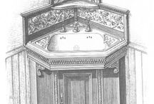 Bathroom design drawings / Inspiration from the past ... bathroom designs we can draw on today