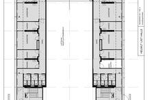 Grundpläne aller drei Hallenteile / Rund 2.000 m2 Veranstaltungsfläche, plus KünstlerInnengarderobe im 1. Stock, BACKSTAGE <Teil C>.