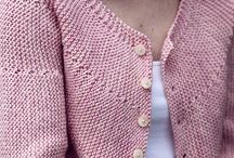 knitting a cardigan