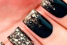 black nail polish inspiration