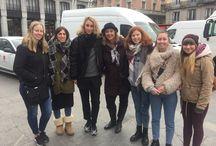 Curiosidades y misterios de Madrid: excursión 9 febrero de 2018. / Excursión por el Madrid Misterioso de los alumnos de español para extranjeros, el día 9 de febrero de 2018, de la Academia Paraninfo.