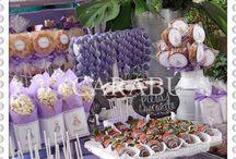 Tortas , comestibles , cumpleaños / Tortas, vocales, galletas, coctelería fiestas
