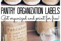 Pantry Organization / Whether you are organizing a walk in pantry or a simple cupboard that stores your food, you can find inspiration here. Streamline your organizational systems and create a space you love with these pantry organization tips.