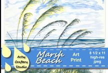 Wall Art Printables / Print out and frame traditionally, or mount on cardboard, foam core, wood, any type of backing. Design a creative border or no border at all. Also place in desktop picture frame for up close, tabletop viewing.