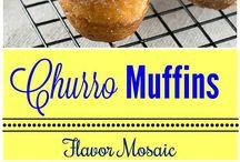 Churros muffins