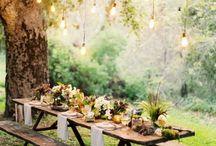 оформление праздничного стола на природе